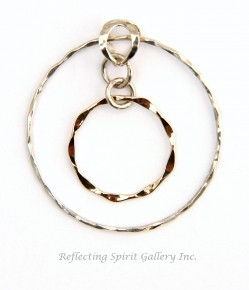 Silver Circle with Gold Inlay Pendant
