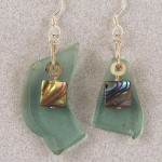 Abalone and Fishing Float Earrings