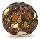 Amber Beach Glass Orb Lamp