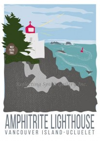 Card / Amphitrite Lighthouse Vancouver Island