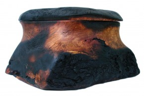 Arbutus Burl Box With Burn