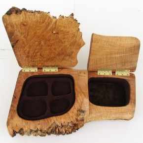 Big Leaf Maple Burl Double Jewellery Box
