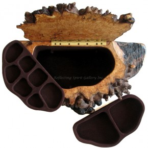 Big Leaf Maple Burl Jewellery Box