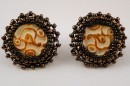 Bead Mayan Stud Earrings