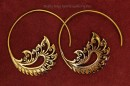 Bronze Wing Open Hoop Earring