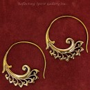 Bronze Wing Open Hoop Earrings