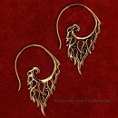 Bronze Flame Open Hoop Earring
