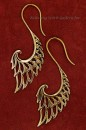 S Shape Bronze Wing Earrings