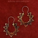 9 Point Bronze Hoop Earring