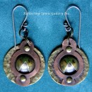 Copper Cosmic-Earrings