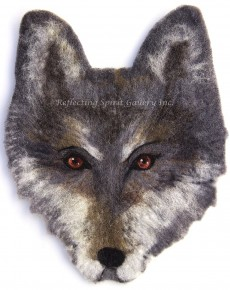 Felted Wolf Head