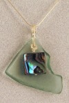 Fishing Float and Abalone Pendant