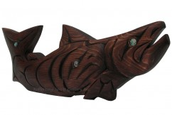 Standing Salmon Carving