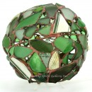 Green Beach Glass Orb Lamp