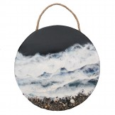 Circular Resin Sea Painting