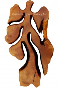 Red Cedar Burl Tree Wall Sculpture