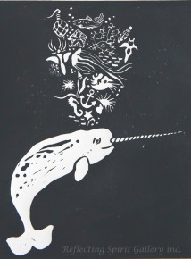 Narwhal With Deep Sea Treasures - Grey