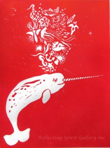 Narwhal With Deep Sea Treasures - Red