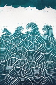 Waves - Teal