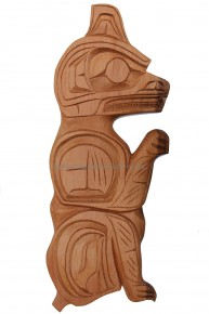 Red Cedar Bear Carving