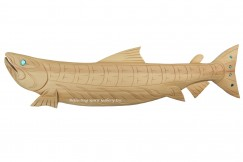 Natural Wood Salmon Carving