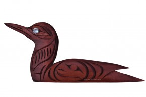 Sitting Loon Carving