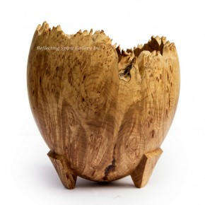 Three Legged Natural Edge Burl Vessel