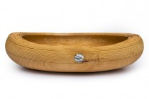 Hand Carved Alder Fish Bowl
