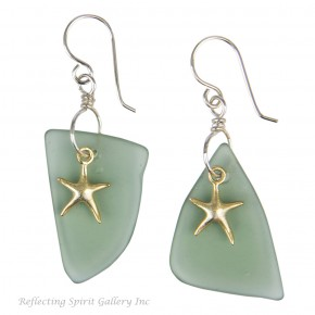 Gold Vermeille Seastar Earrings