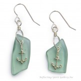 Fish Float Glass Anchor Earrings