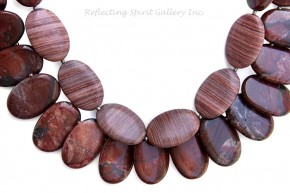 Apple Jasper and Agate Necklce