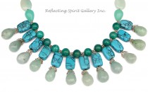 Amazonite Howlite Necklace