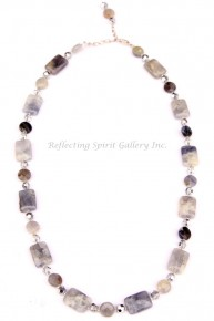 Kyanite and Crystal Necklace