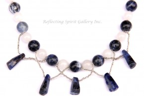 White Jade and Sodalite Necklace