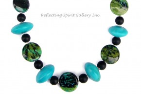 Azurite Malachite Howlite Necklace