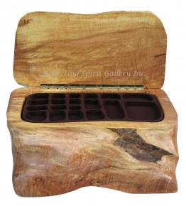 Big Leaf Maple Jewelry Box / Three Trays