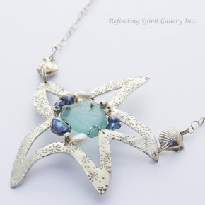 Sea Glass Star Necklace