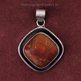 Red Creek Jasper With Sterling Silver