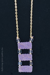 Delica Beaded Pendant with Amythis