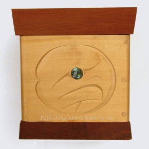 Salmon Egg and Eagle Bentwood Box