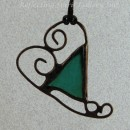 Sea Glass Heart Pendant