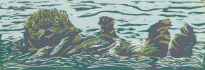 Sea Otter Relief Print