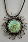 Sea Urchin Beaded Embroidery Pendant