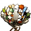 Multi Coloured Beach Glass Spiral Lamp