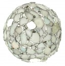 White Beach Glass Orb Lamp