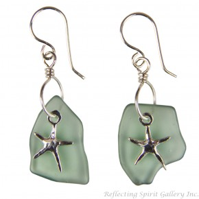 Sea Star and Fishing Float Earrings