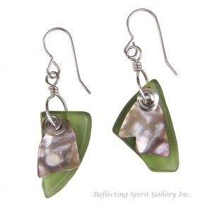 Fishing Float with Abalone Earrings