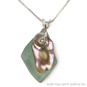 Fishing Float with Abalone Pendant