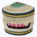 Canoe and Whale Woven Basket