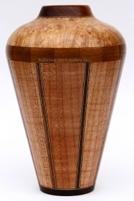 Segmented Maple Vase
